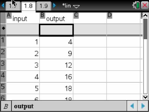 spreadsheet inputs for regression
