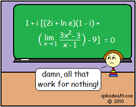 nothing from spiked math 133