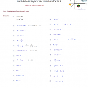 2014 number puzzle 2 solutions