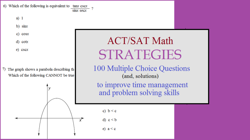 act sat test prep strategies