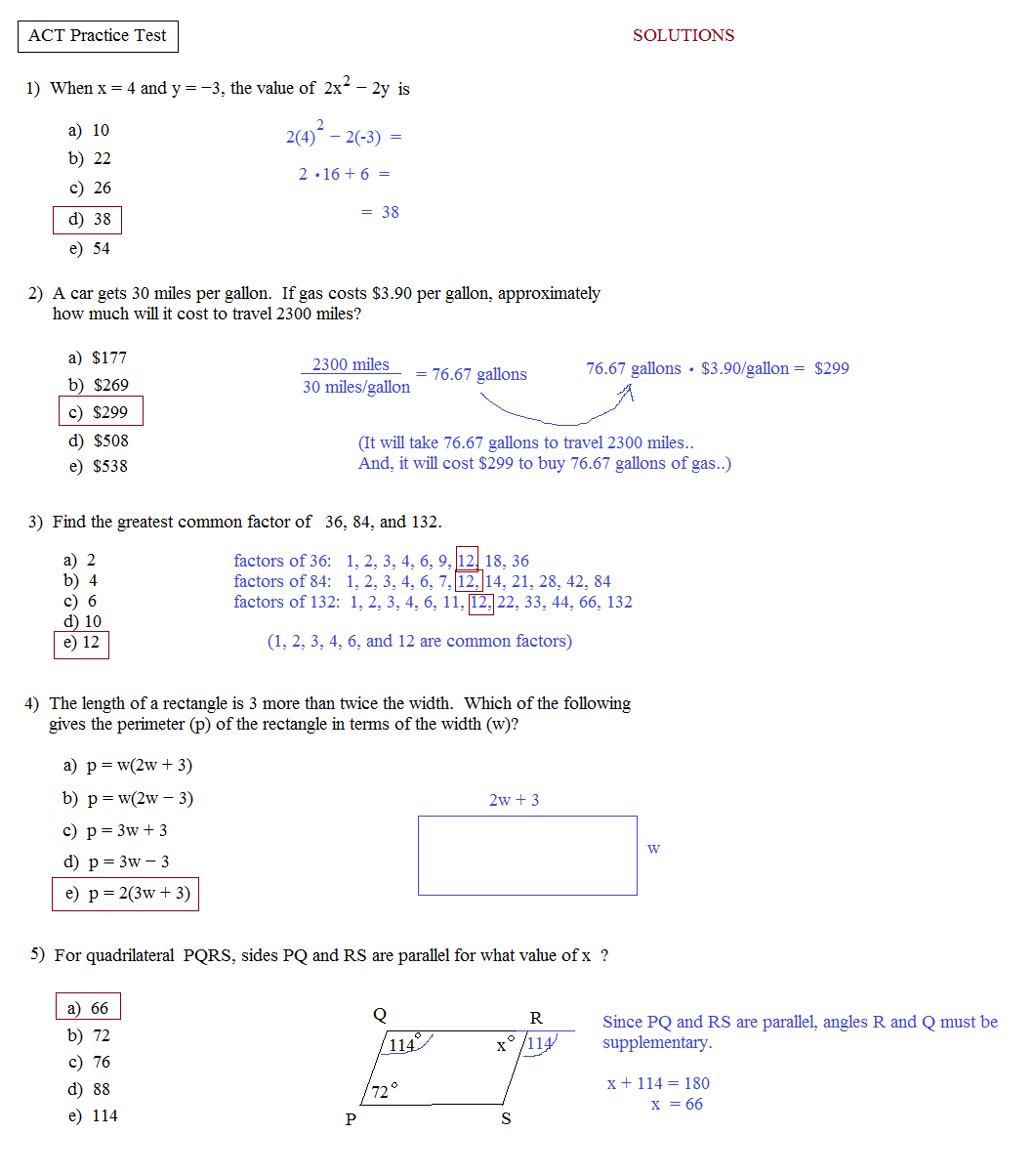 Act English Prep Worksheets Bloggakuten – Sat Math Worksheets
