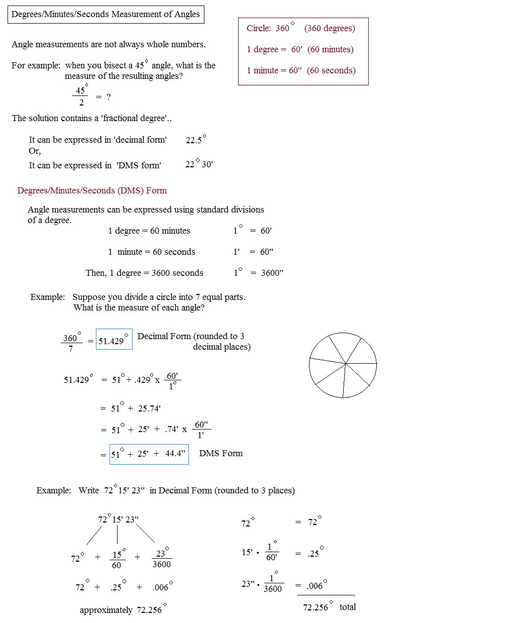 angle and measurement i convert Learn more about angle and find more angle measurement conversion calculators a grad is an angle measurement and can be abbreviated as ^g , for example 1^g a degree is an angle measurement and can be abbreviated as ° , for example 1.