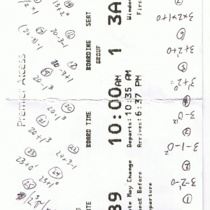 2013 math puzzle on airline boarding pass