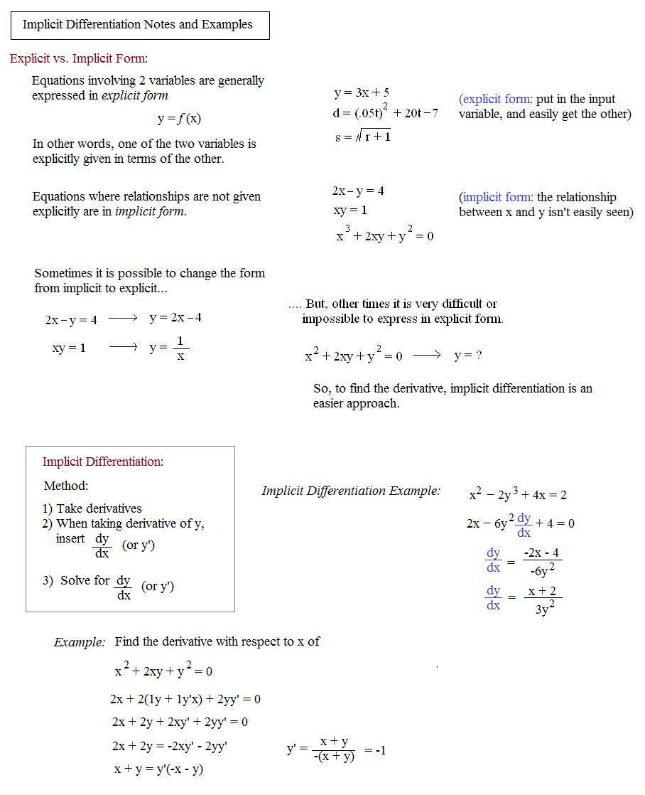 how to solve implicit differentiation word problems