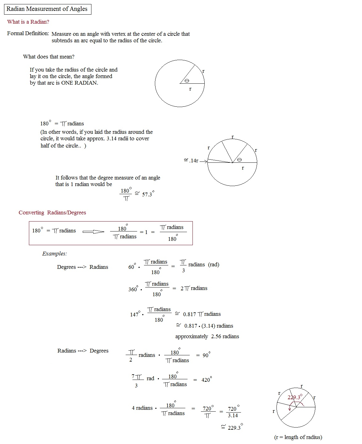 Printables Coterminal Angles Worksheet Messygracebook