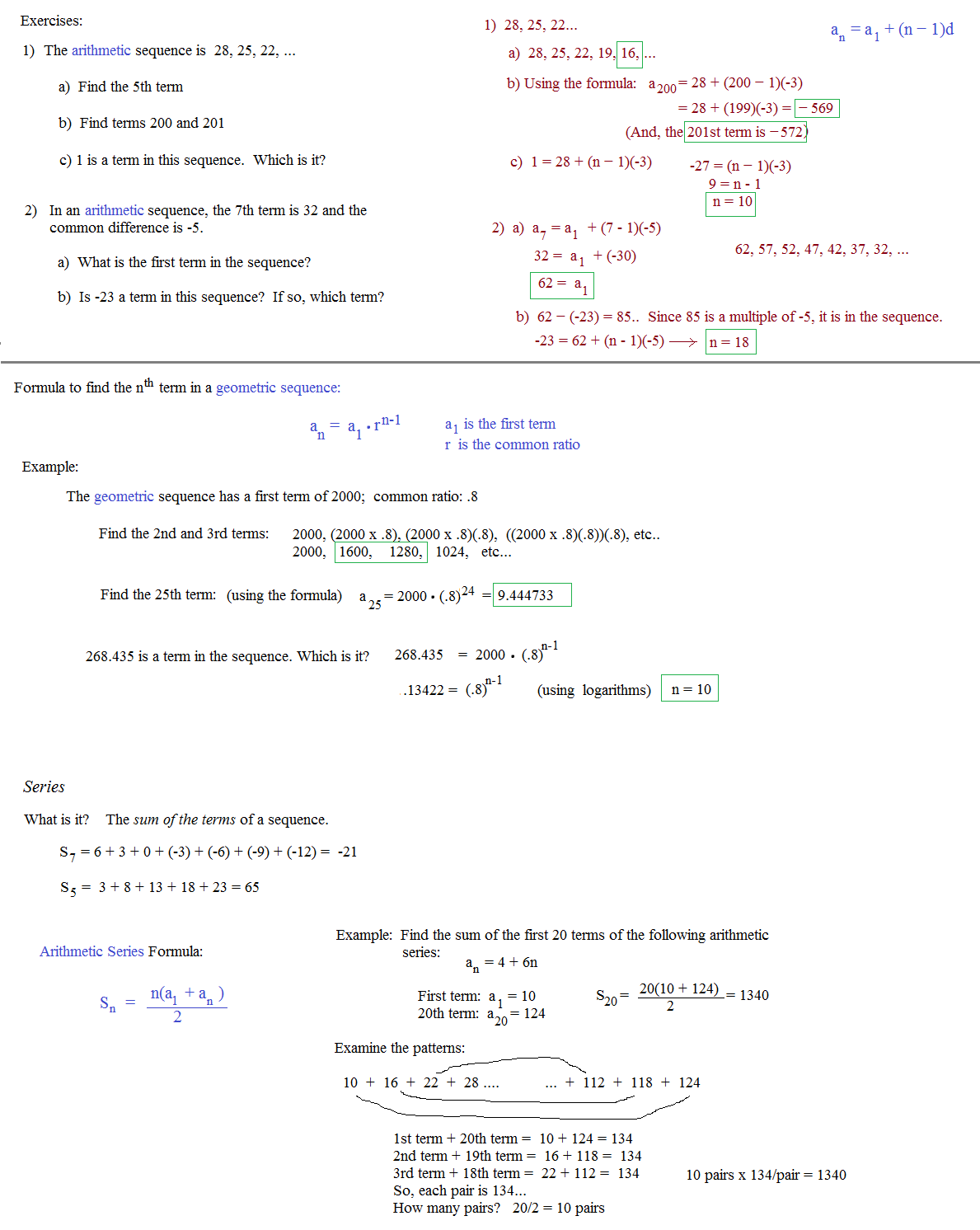 Arithmetic And Geometric Sequences Worksheet Kuta Deployday – Arithmetic Sequence Worksheet Algebra 1