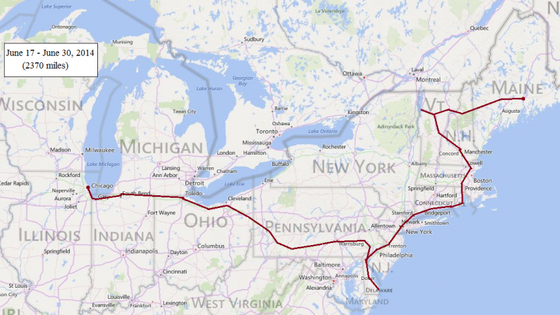 us summer road trip map