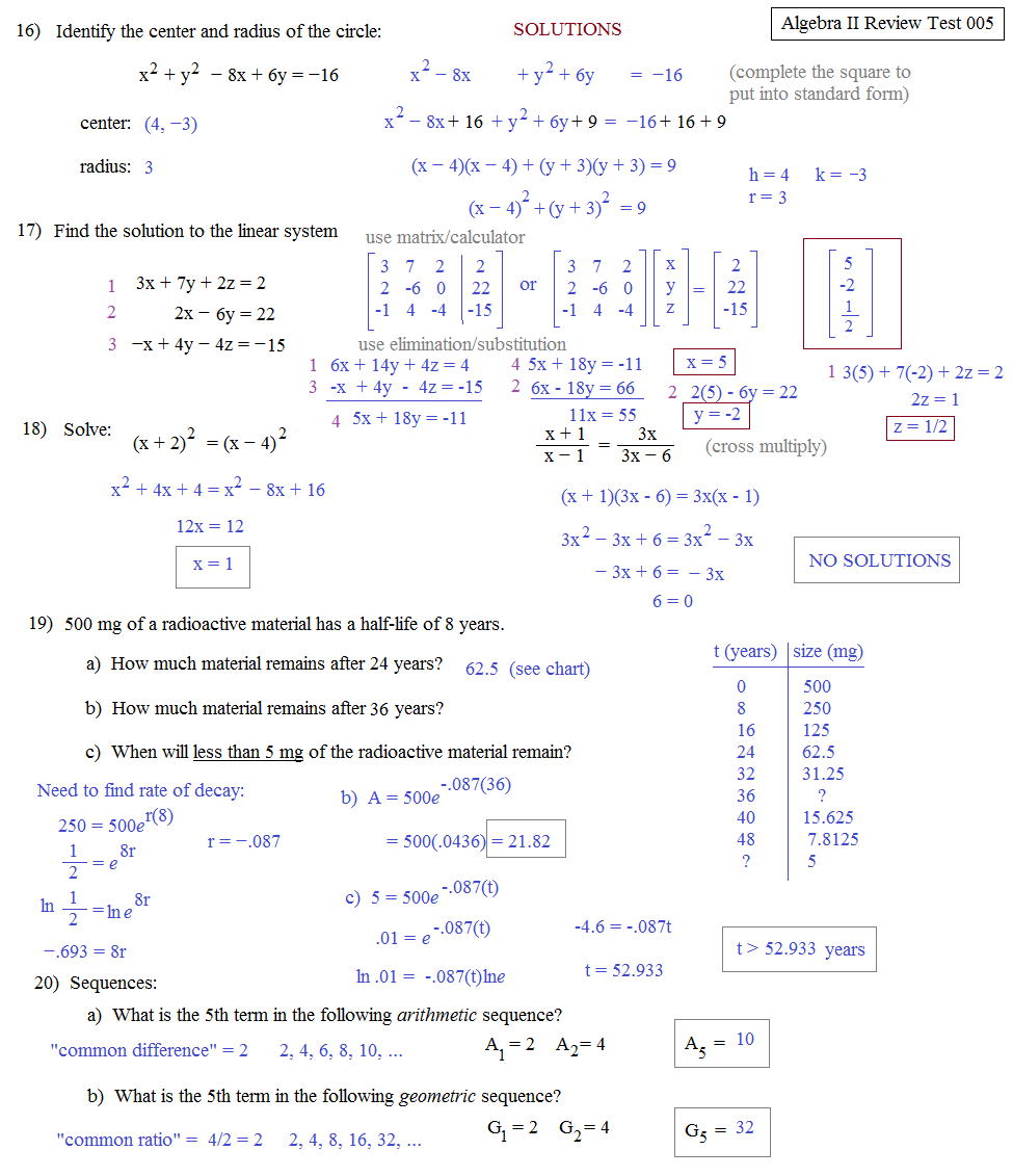 Algebra Ii Worksheets Katinabags – Algebra Ii Worksheets