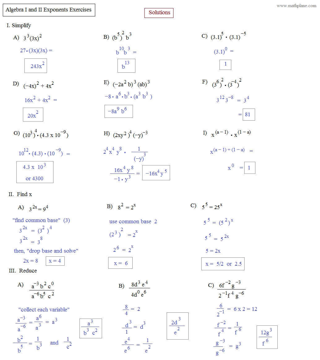worksheet Algebra Exponents Queensammy Worksheets for Elementary – Exponent Rules Worksheets