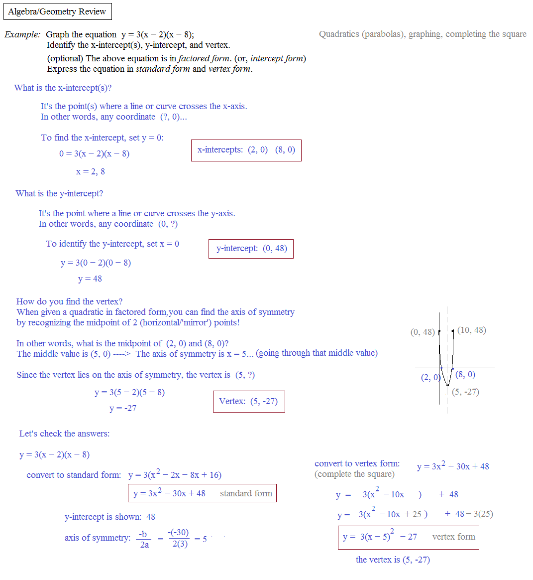 algebra review Don't let your upcoming algebra i test scare you use our free algebra practice test questions and get a high score no registration needed start prepping today.