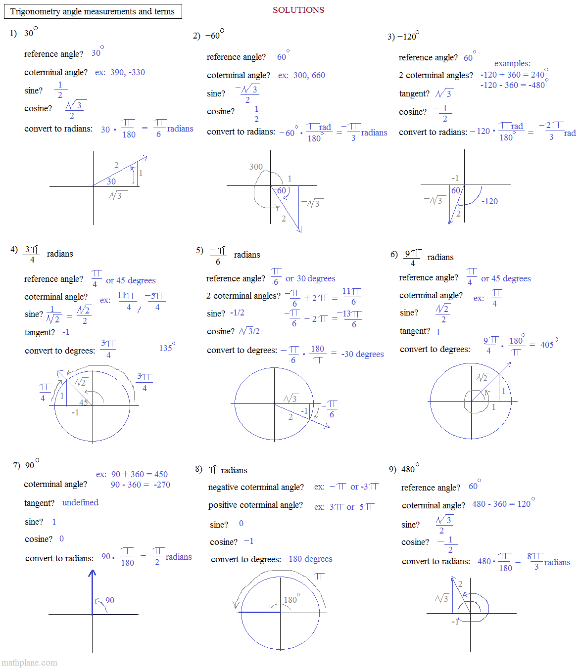 plane trigonometry pdf free download