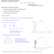 calculus application quadratic velocity acceleration
