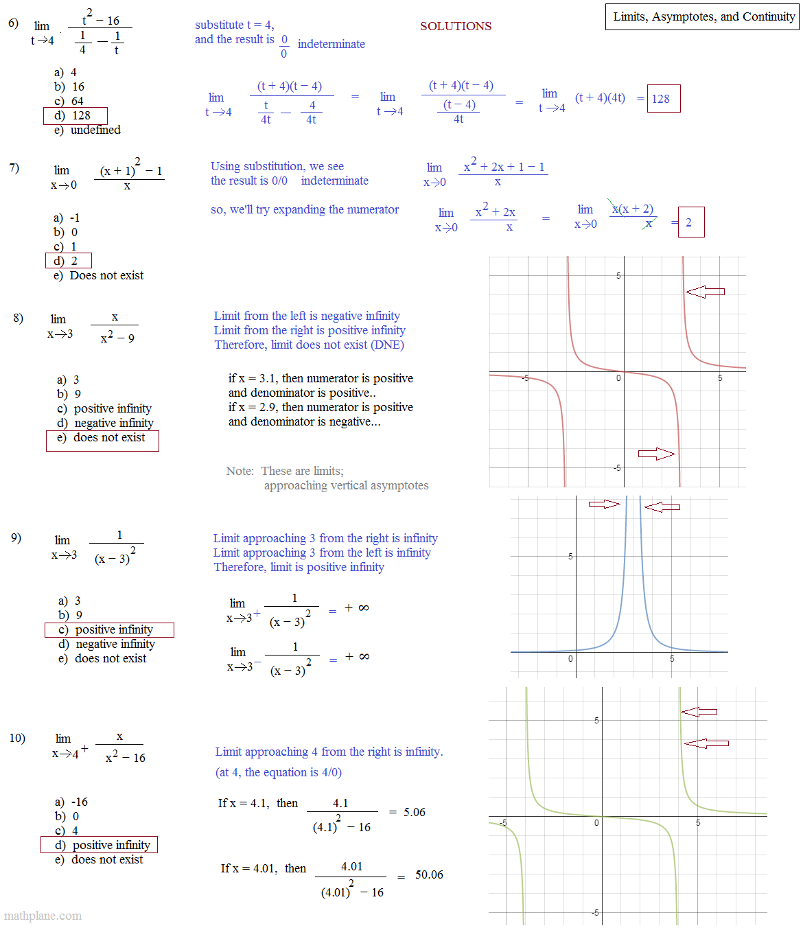 limits calculus examples and solutions pdf