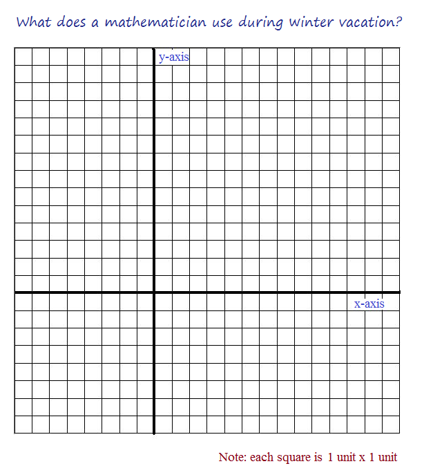cartesian coordinate cartoon winter break grid