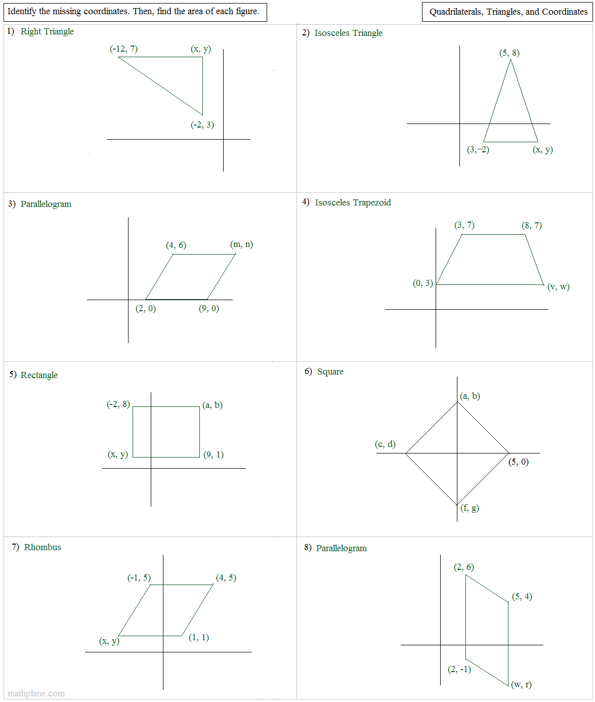 28 geometry worksheet quadrilaterals in the plane answers geometry circle proofs. Black Bedroom Furniture Sets. Home Design Ideas