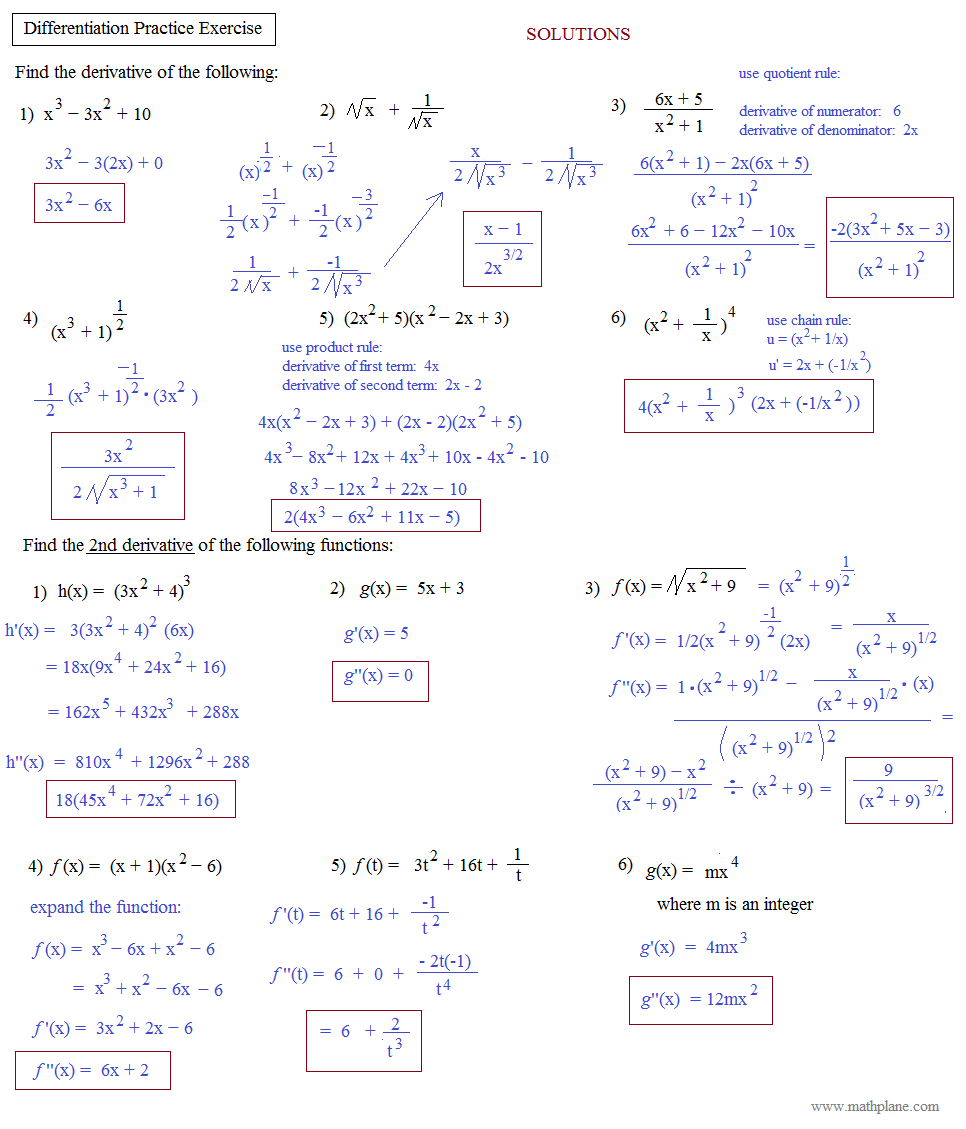 differentiation integration and matrices Matrices and determinants 100-level mathematics revision exercises differentiation and applications these revision exercises will help you practise the.