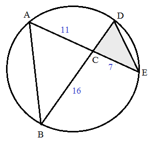 geometry trig circle triangle question