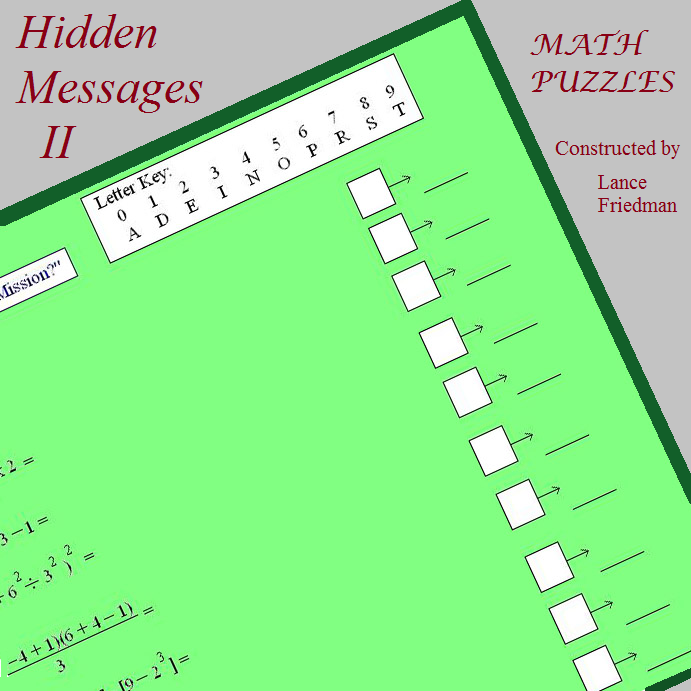 hidden message II front cover