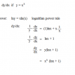 implicit differentiation - using logarithms product rule