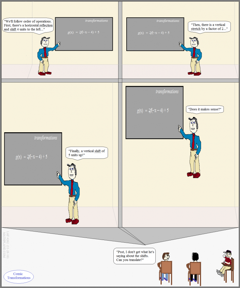 math cartoon 262 comic transformations
