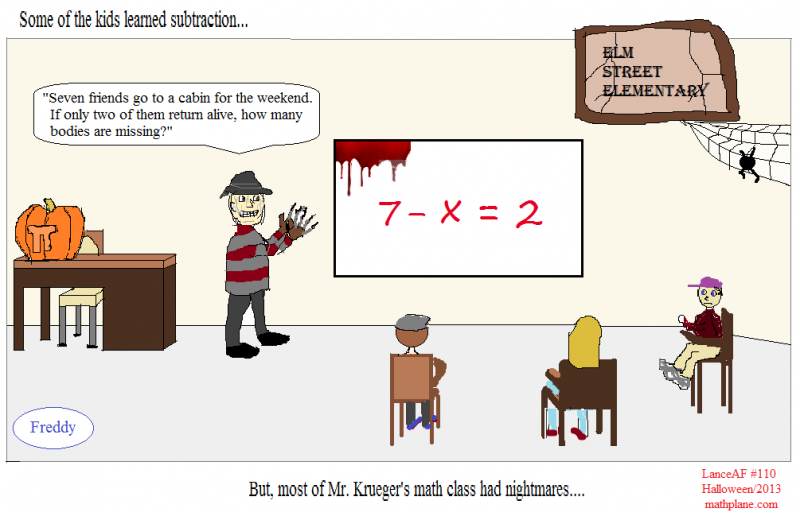 math comic 110 halloween at elm street school