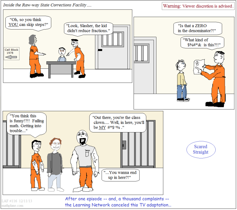 math comic 116 scared straight on the learning network
