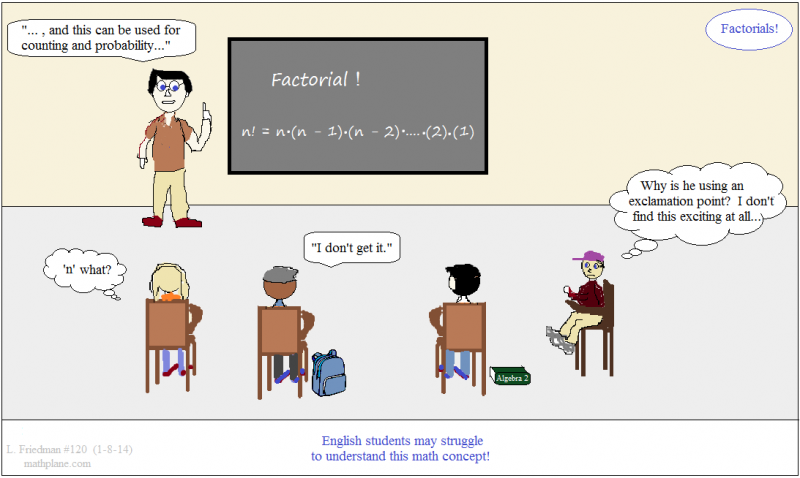 math comic 120 factorials!