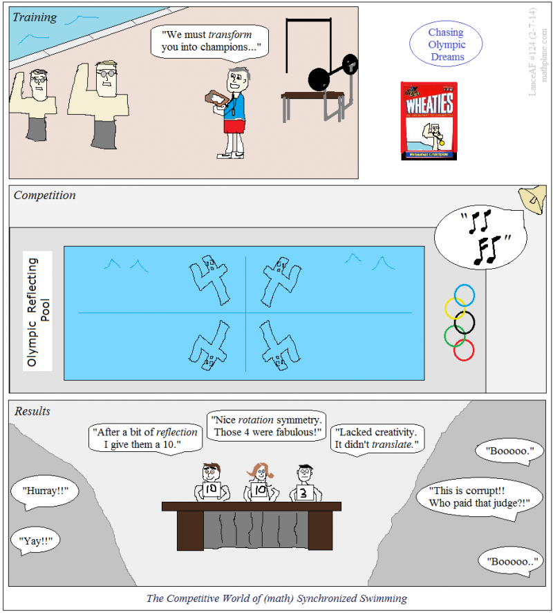 math comic 124 chasing olympic dreams - synchronized swimming