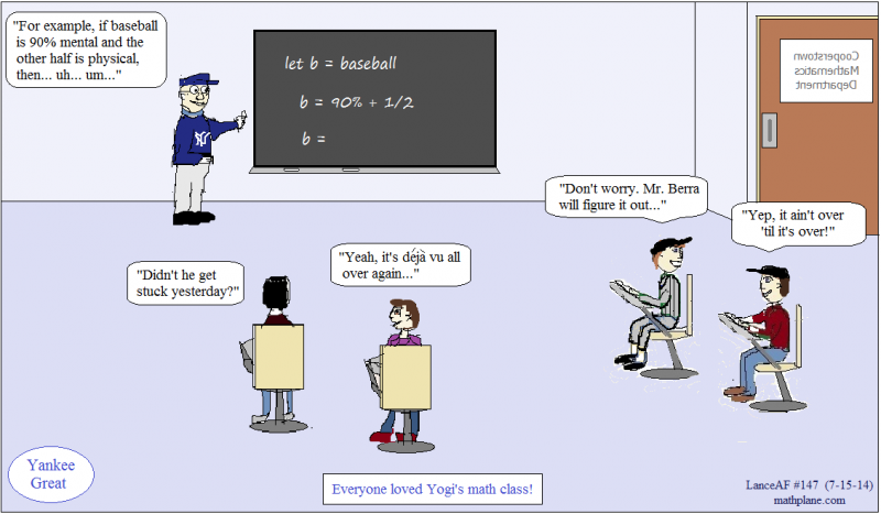 math comic 147 yankee great yogi berra