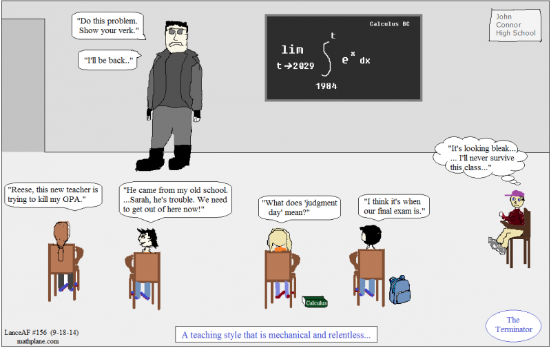 math comic 156 the terminator