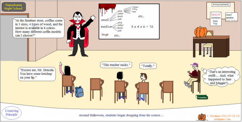 math comic 162 count dracula halloween