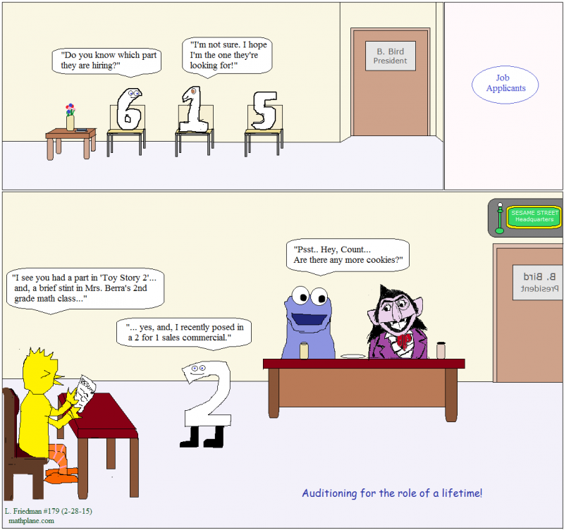math comic 179 sesame street job applicants