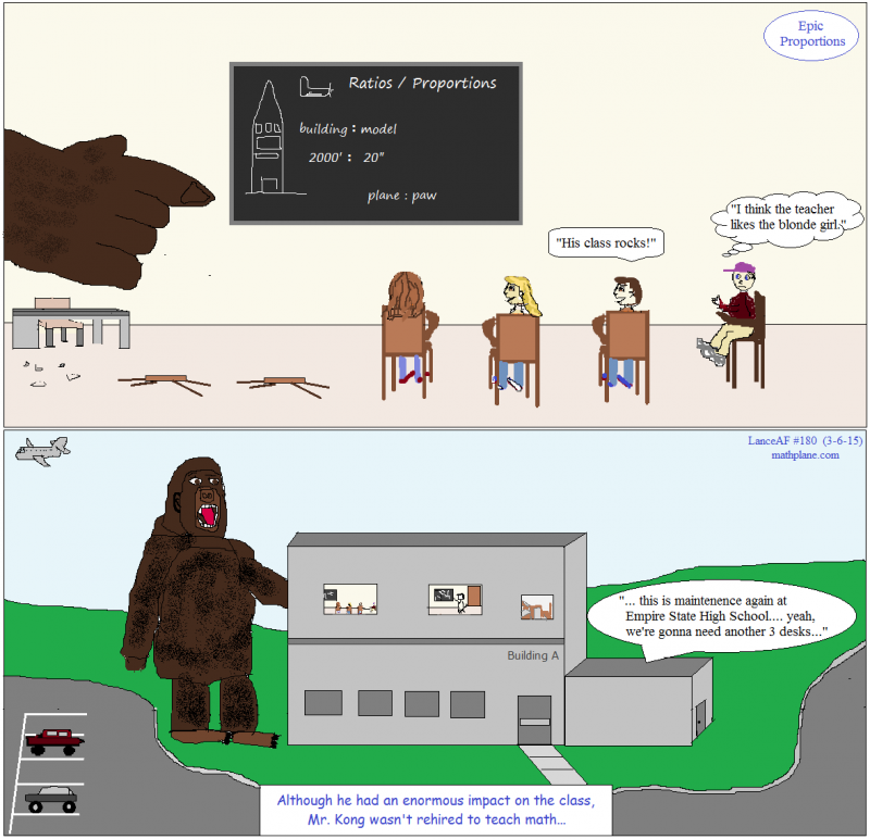 math comic 180 epic proportions - king kong