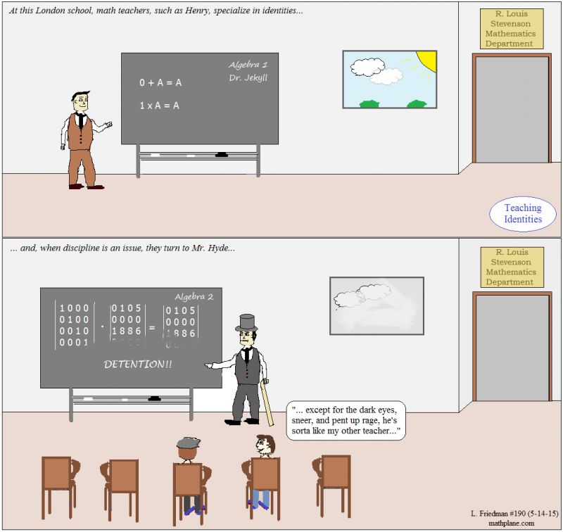 math comic 190 teaching identities jekyll and hyde