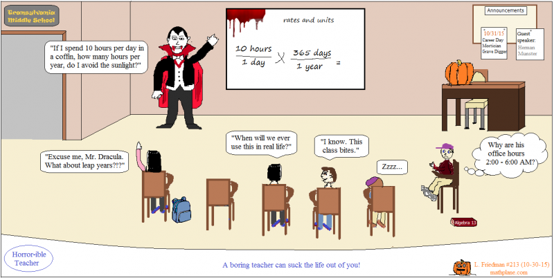 math comic 213 count dracula horrorible teacher