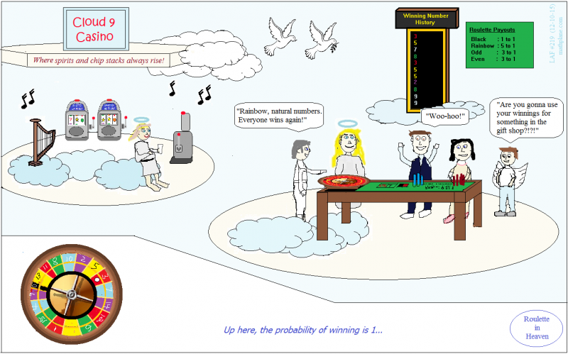 math comic 219 roulette in heaven