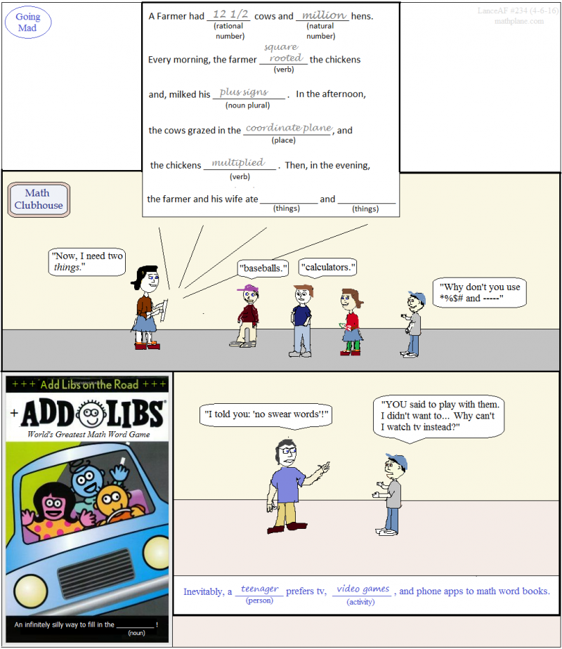 math comic 234 going mad - add libs