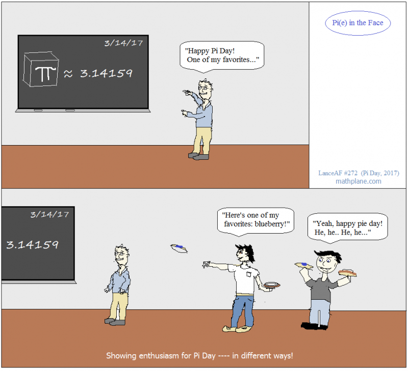 math comic 272 pi in the face