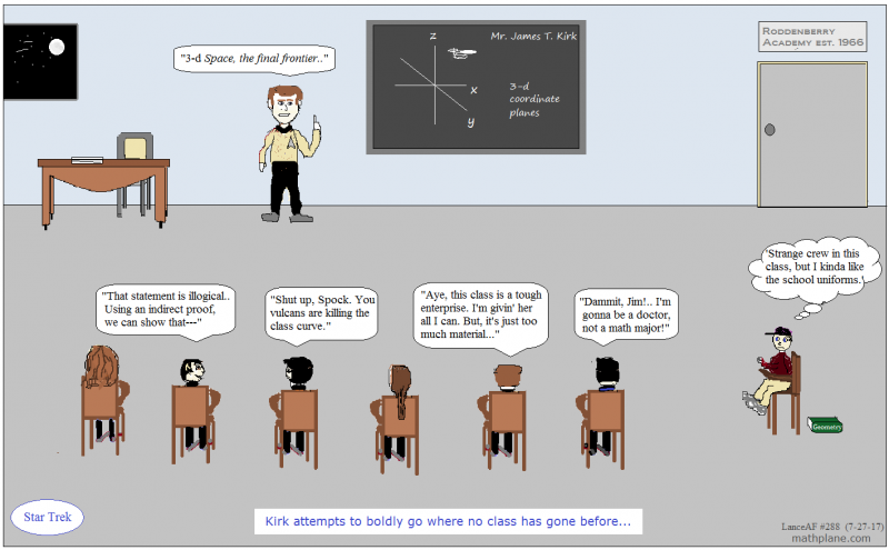 math comic 288 star trek