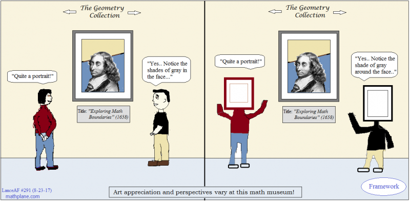 math comic 291 framed portrait