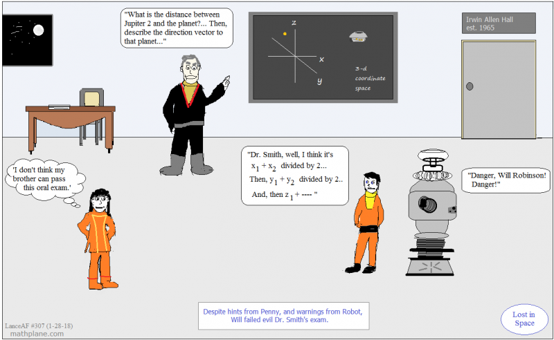 math comic 307 lost in space