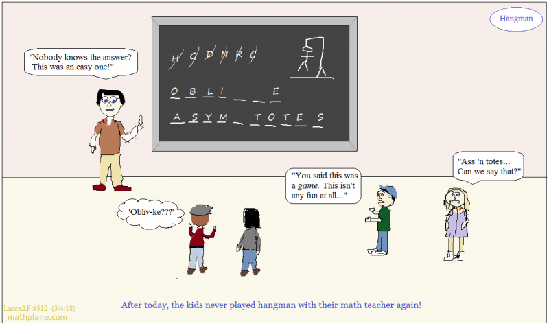 math comic 312 hangman