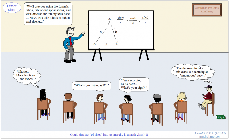 math comic 332A law of lines