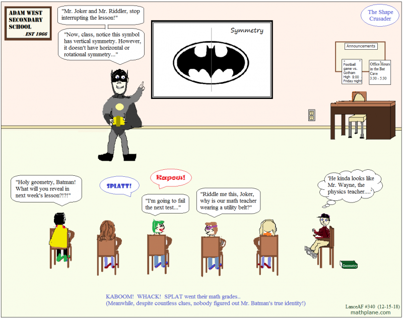 math comic 340 batman - the shape crusader