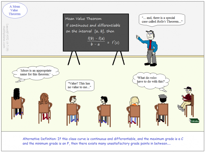 math comic 352 a mean value theorem