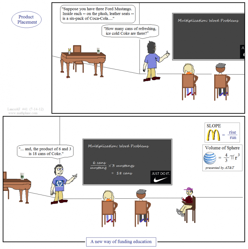 math comic 41 product placement billboards & chalkboards
