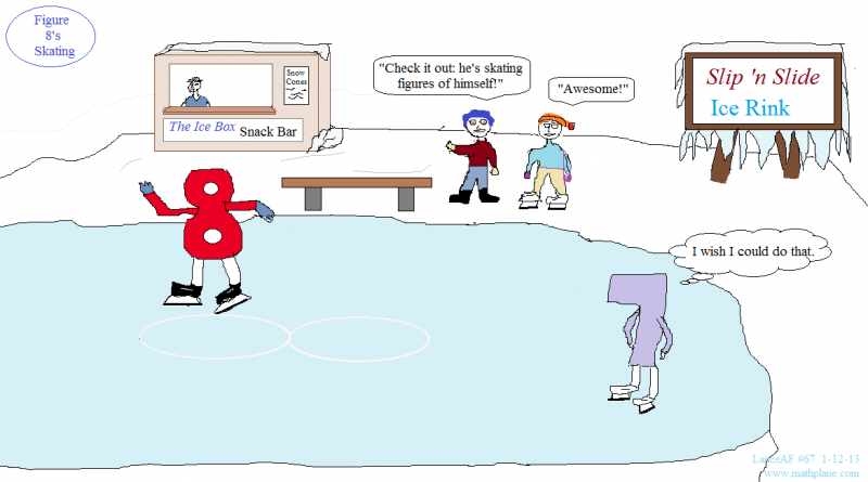 math comic number 67 figure eight skates