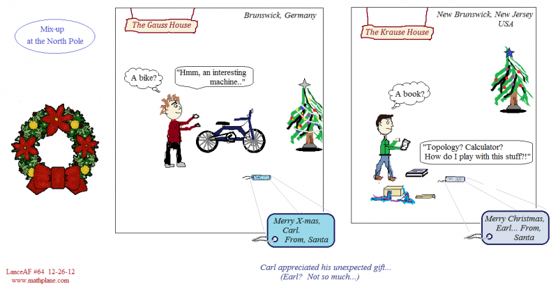 math webcomic 64 mix-up at the north pole gifts from santa