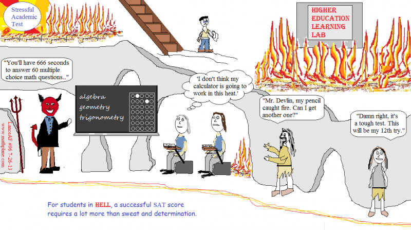 math webcomic 96 SAT in HELL students
