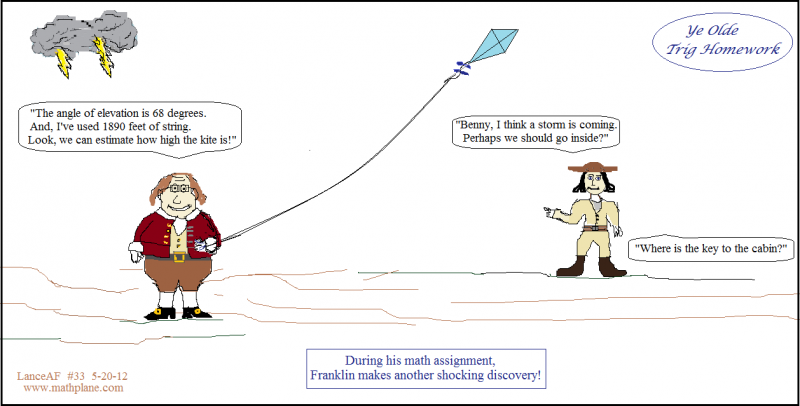 weekly math comic 33 franklins ye olde trig